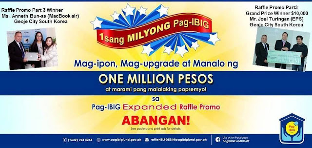 Filipino EPS Worker in Korea Won $10,000 in PAG-IBIG Expanded Raffle Promo