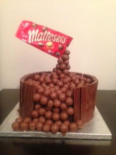 Floating malteser cake for Comic Relief showstopper