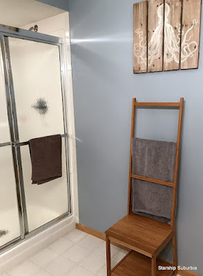 View of shower corner of bathroom