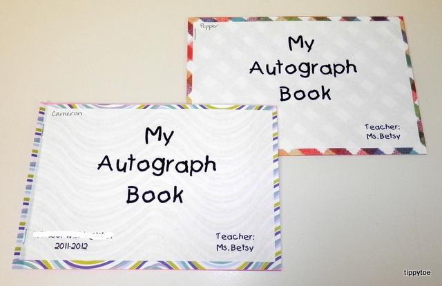 tippytoe crafts class autograph books