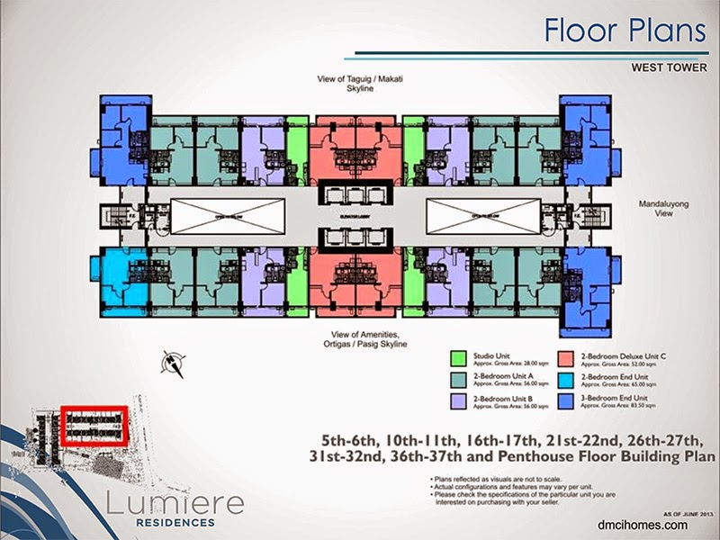 Lumiere Residences Typical Non-Atrium Level