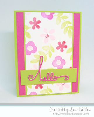 Floral Hello card-designed by Lori Tecler/Inking Aloud-stamps from Paper Smooches