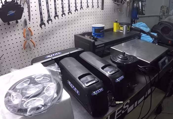 Kit conversão motor eletrico bateria bicicleta elétrica