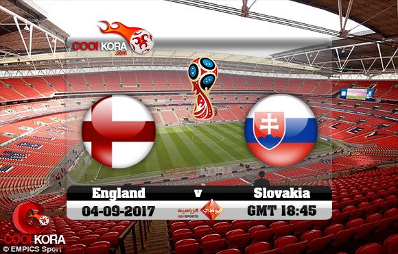 مشاهدة مباراة إنجلترا وسلوفاكيا اليوم 4-9-2017 تصفيات كأس العالم