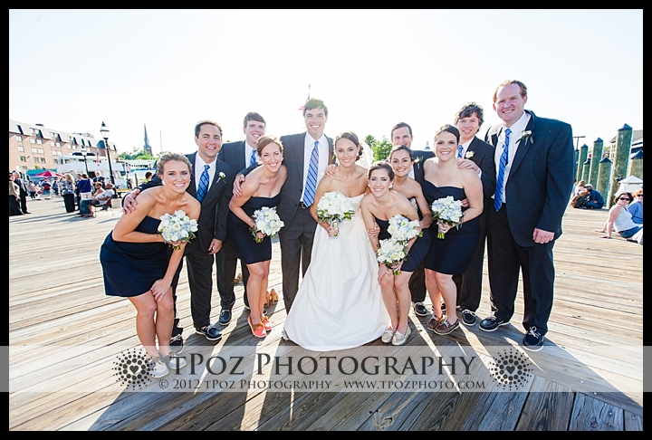 Annapolis Wedding Bridal Party on docks