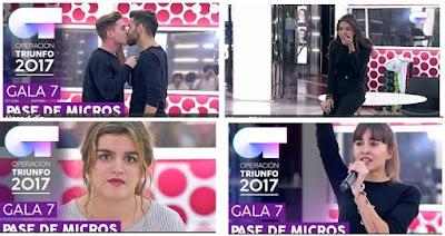 Adelanto Gala 7 OT 2017 | Reparto de temas