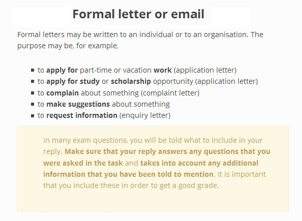Sincerelyours 2bac writing Formal Letters  Emails
