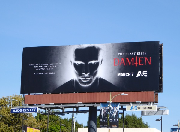 Damien series premiere billboard