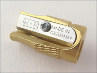 Mobius + Ruppert M+R 0601 long concave tip BULLET SHAPED BRASS Pencil sharpener本体が真鍮