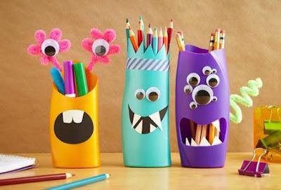 декор детской комнаты, подставка для карандашей, деткам, поделки с детьми, поделки для детей