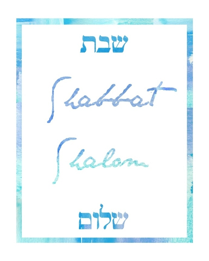 Shabbat Shalom free printable | Land of Honey