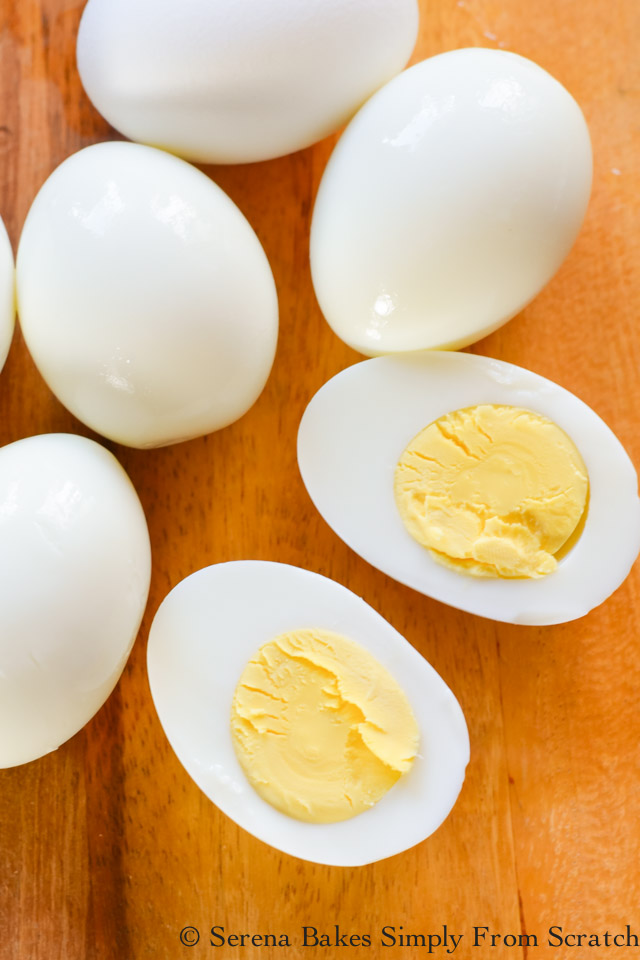 Easy Peel Perfect Hard Boiled Eggs recipe are so easy to make! The shell slips right off and no green rim.