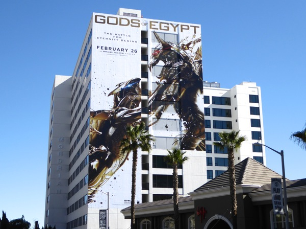 Giant Gods of Egypt movie billboard