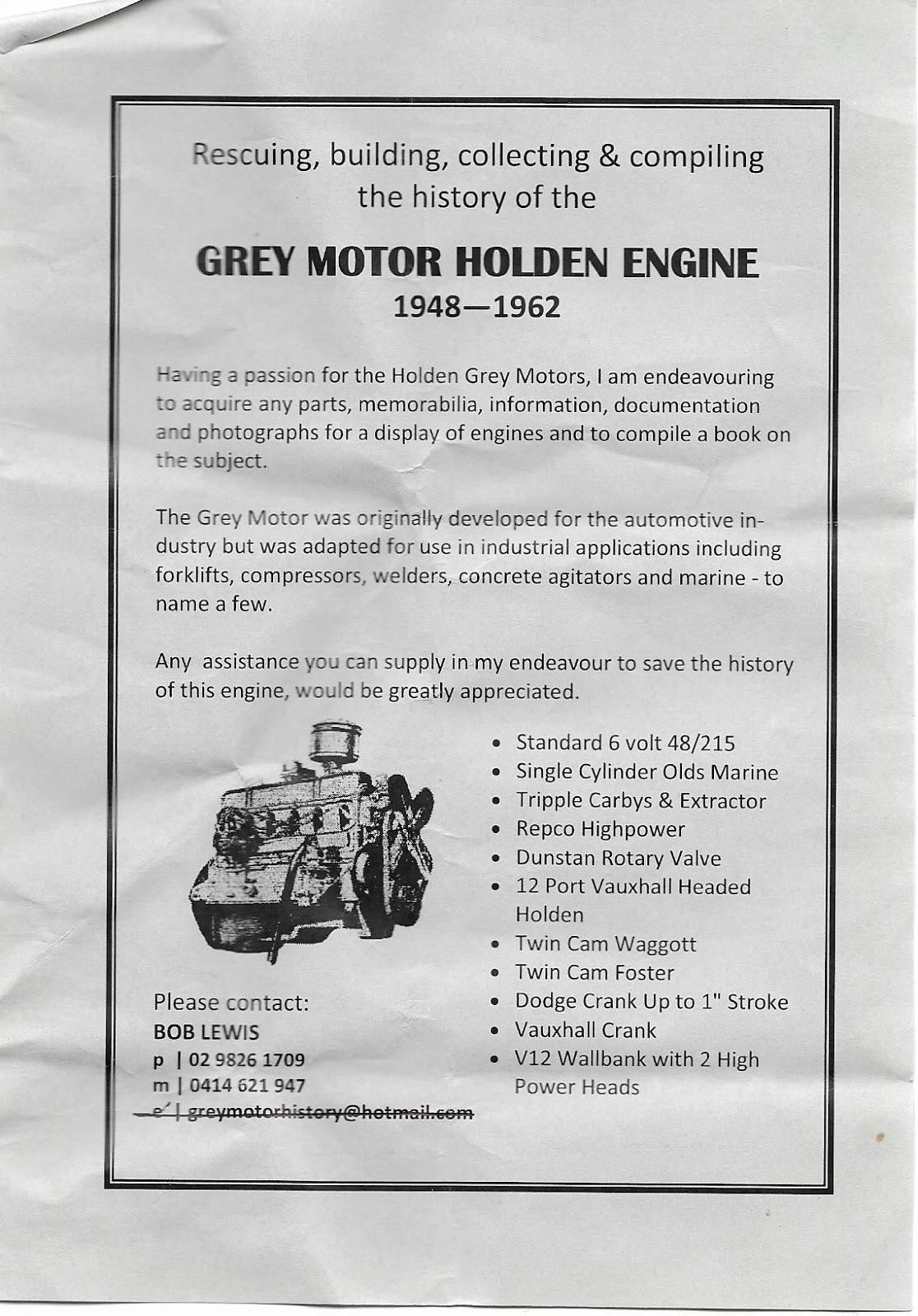 Holden Grey Motor