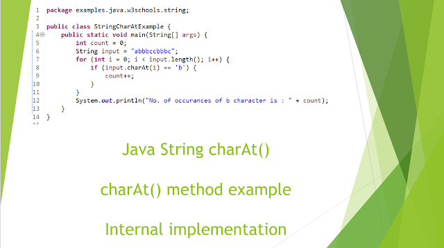 Java String charAt() Method example (Find Char At a Given Index)