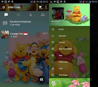 BBM mod Apk Winnie The Pooh V3.0.0.18 Terbaru (Not Clone)