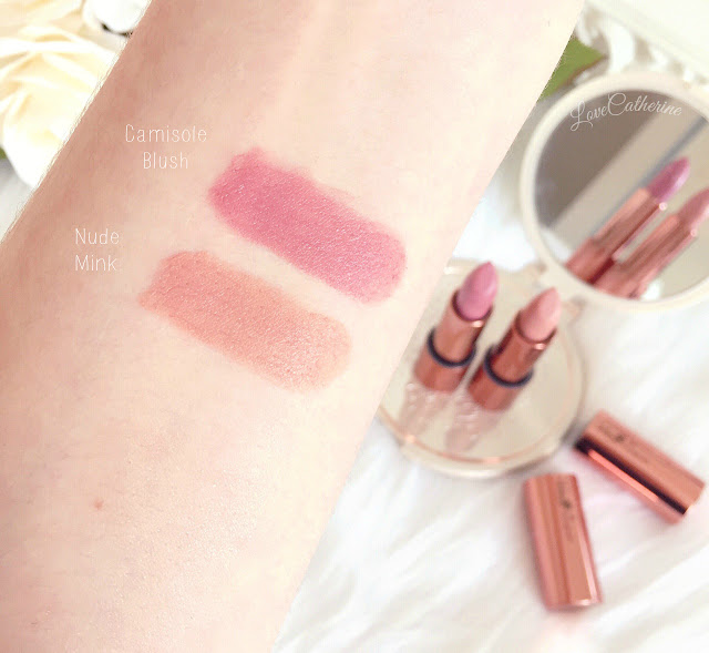 Rosie for Autograph | Lipstick Swatches, Nude Mink & Camisole Blush