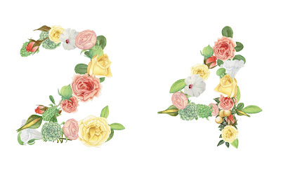 A floral number 24