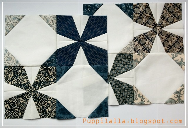 Puppilalla, Wanta Fanta, free bee block, Quilting bee, The Bee Hive, Foundation Paper Piecing