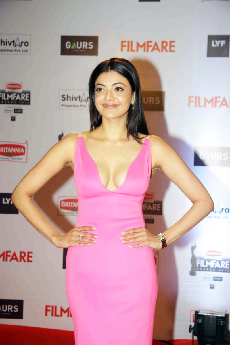 Kajal Aggarwal Photos In Pink Dress