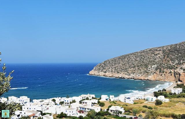 Apollonas, isla de Naxos (Grecia)