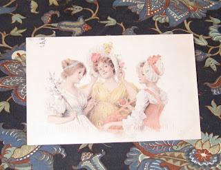 vintage ladies postcard