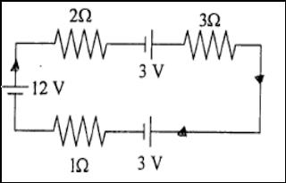 Kuat arus yang mengalir pada rangkaian tersebut adalah ….  A.    3,5 A  B.     3 A  C.     2,5 A  D.    2 A  E.     1,5 A