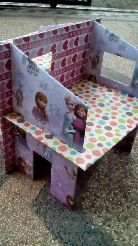 Cara Membuat Rumah Barbie Dari Kardus : membuat, rumah, barbie, kardus, [CRAFT], Membuat, Rumah, Barbie