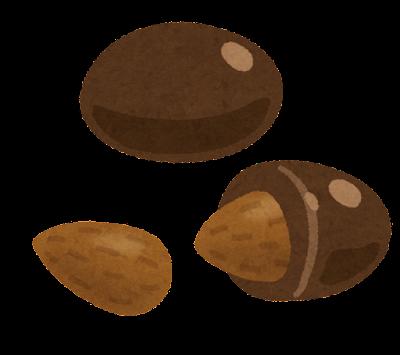 ナッツ入りチョコレートのイラスト(アーモンド)
