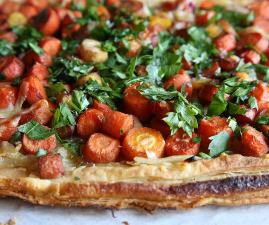 Caramelized Carrot and Onion Tart - food-drink-recipes.com