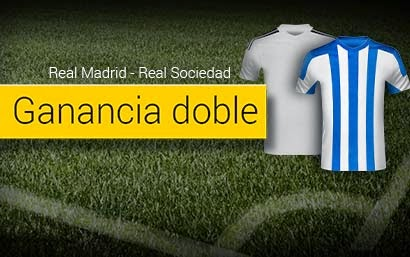 bwin bono ganancia doble Real Madrid vs Real Sociedad 31 enero