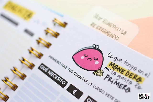 Agenda dinero ilustrada 2019 Pedrita Parker