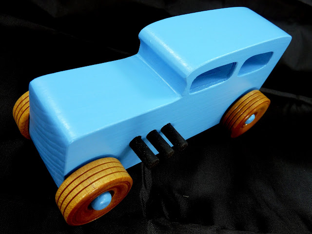 20171116-134103 - Wooden Toy Car - Hotrod Freaky Ford - 1932 Ford - Sedan