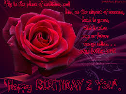 happy birthday 2 wishes for sister with red roes