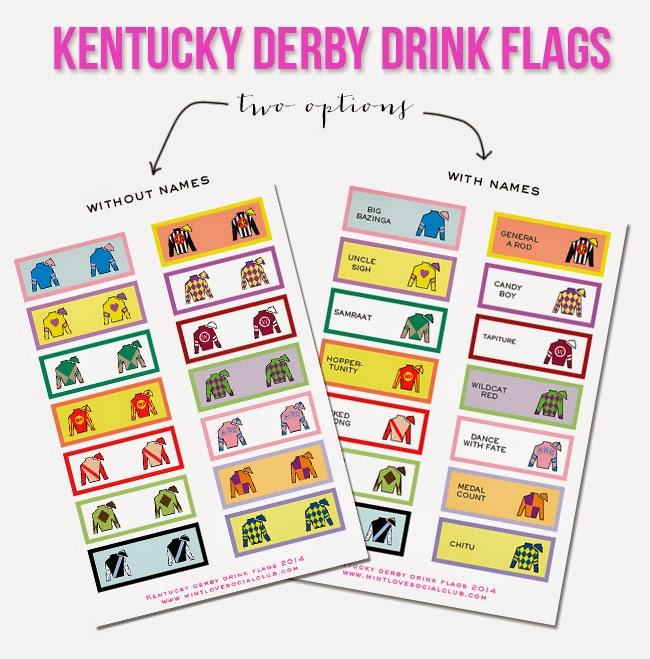 mint love social club {kentucky derby drink flag printable}