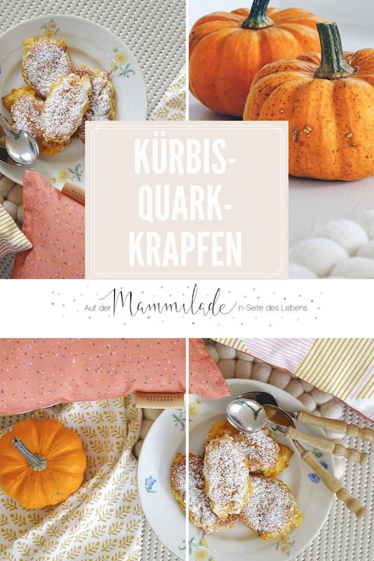 Rezept Kürbis-Quark-Krapfen und Farbtrends, Heimtextilien und Dekoideen in Ocker, Senf und Altrosa - https://mammilade.blogspot.de