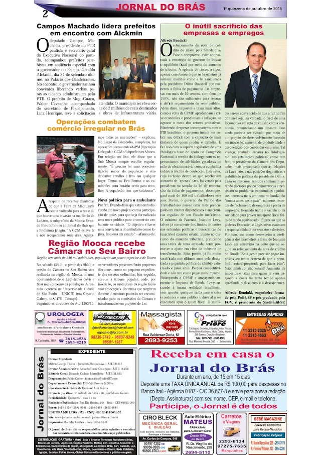 Destaques da Ed. 281 - Jornal do Brás