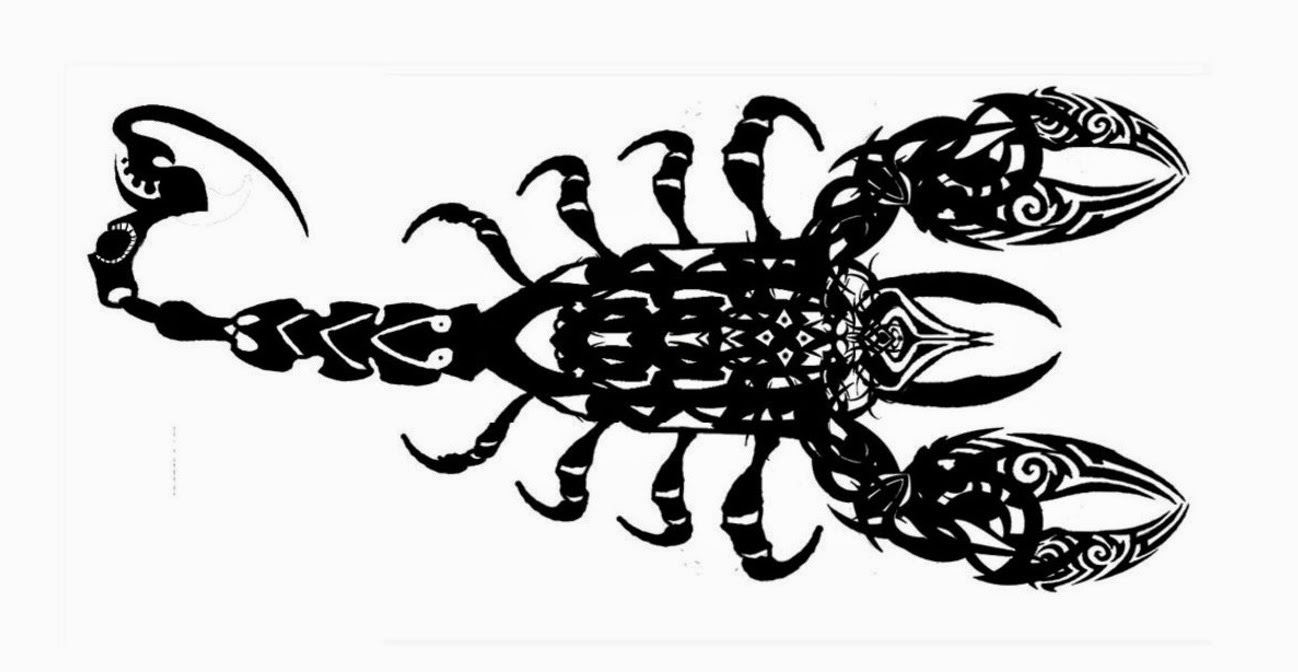 Scorpion tribal tattoo stencil