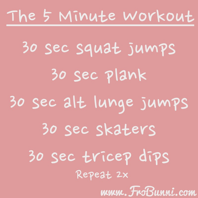 The 5 Minute Workout   FroBunni