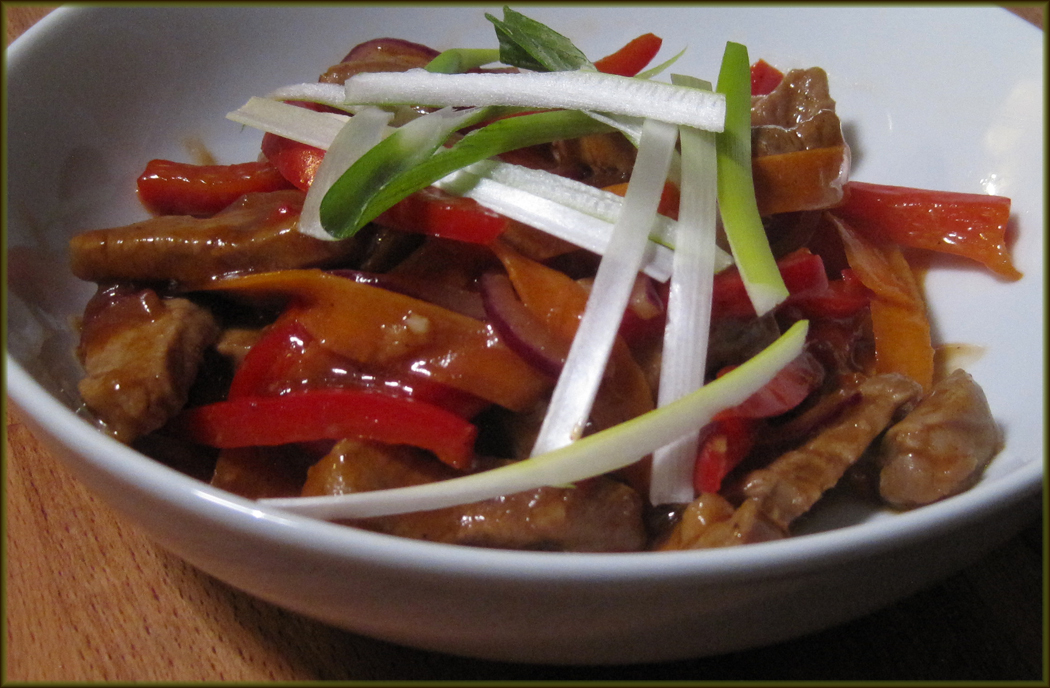 Pork with Hoisin and Orange Sauce