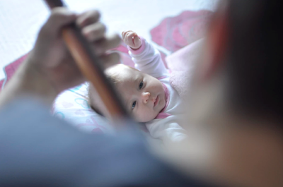 singing to a baby