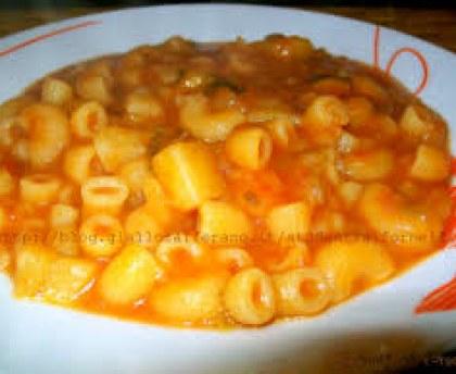 Pasta and potato - pasta and potatoes ( Italy)