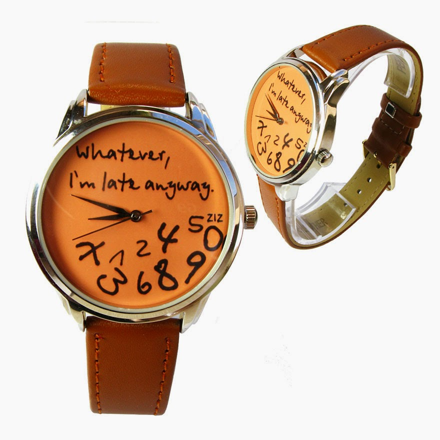 24 Of The Most Creative Watches Ever - Whatever, I'm Late Anyway Watch