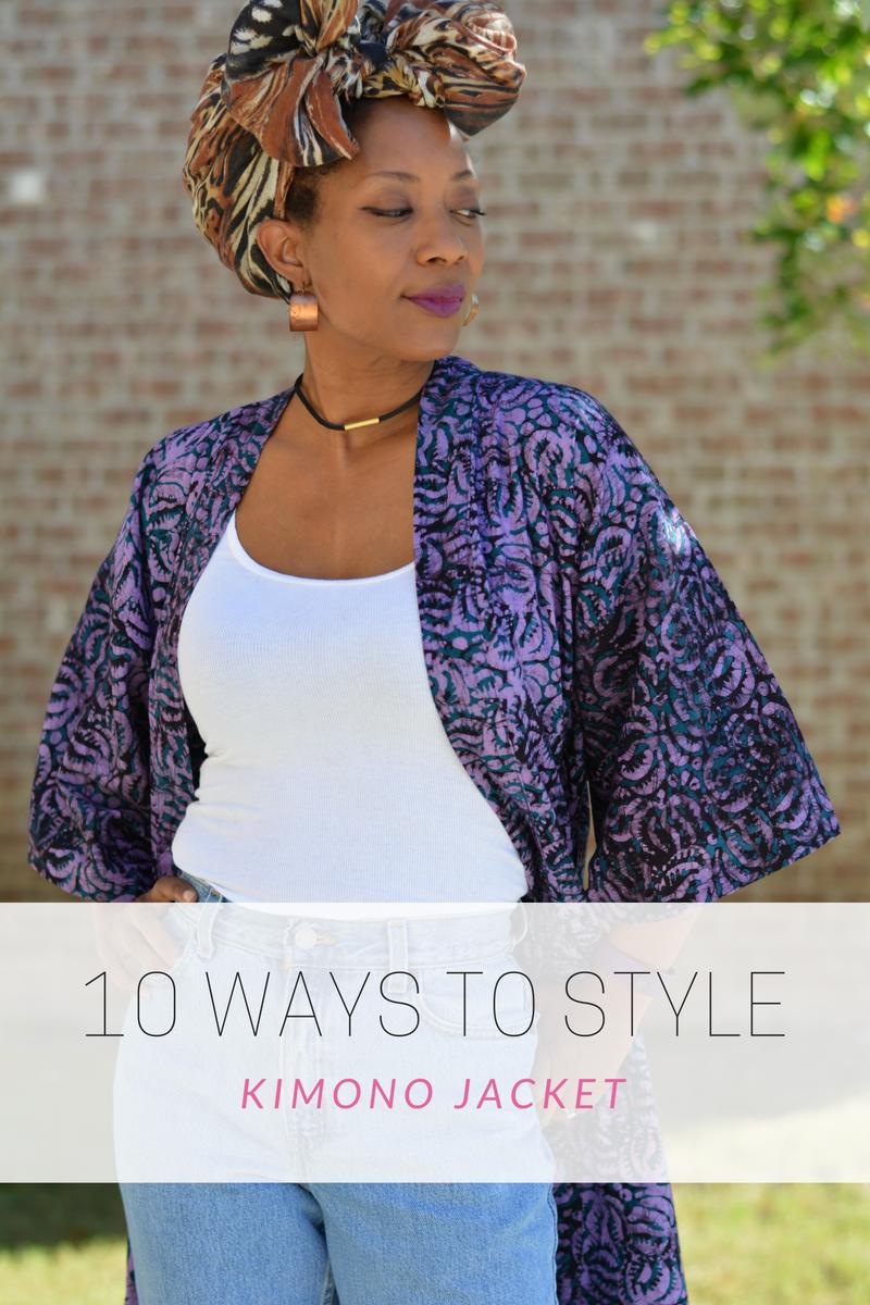 10 ways to style kimono jackets