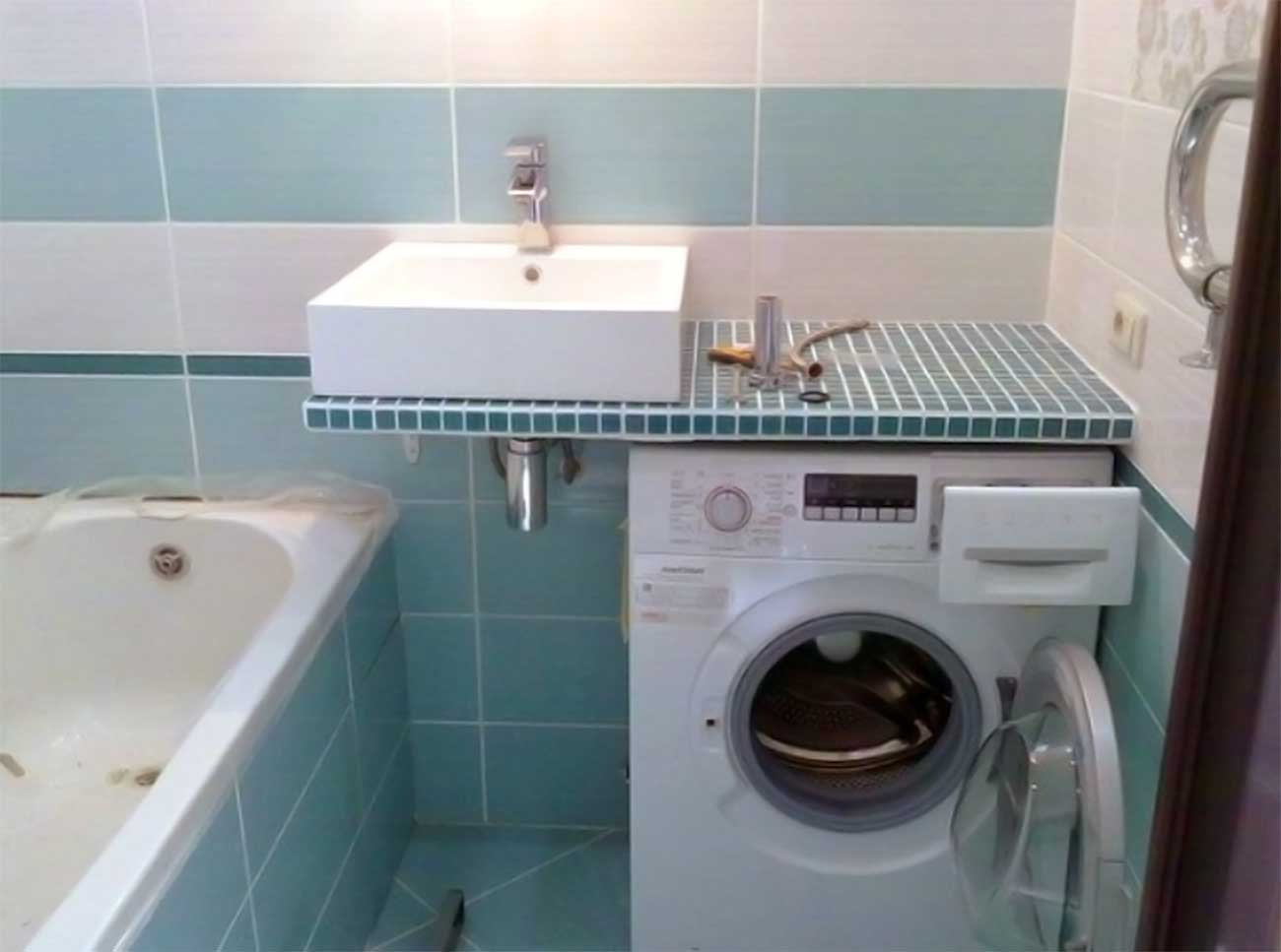How To Put Washing Machine In A Small Bathroom In The Right Way For Space Saving My Lovely Home