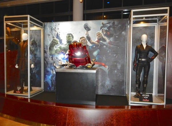 Avengers Age of Ultron movie costume prop exhibit