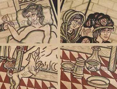 Aquí he querido mostar en 4 escenas la obra de el Médico. Socarrat Artesanía. Camateu