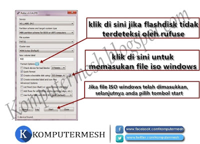 Cara Membuat Bootable Flashdisk Windows 7/8/10 dengan Rufus