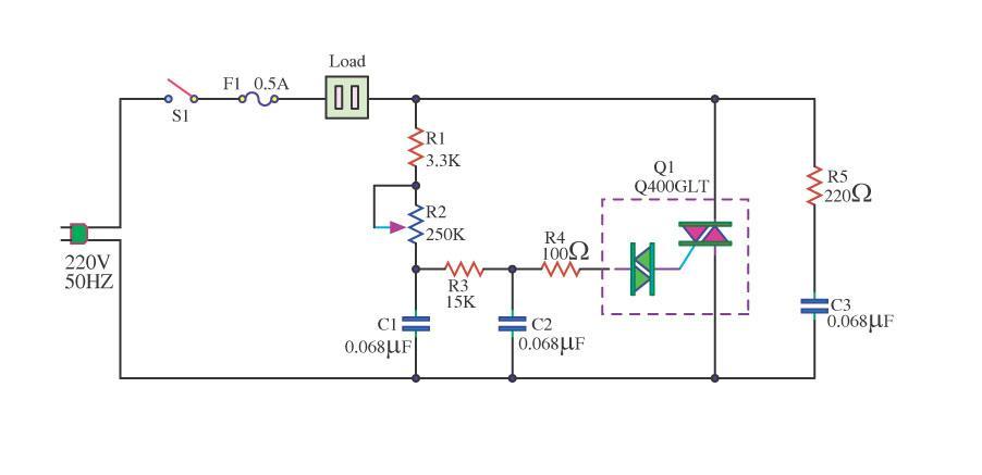 1200 Watt Dimmer 1200 Watt Ac Dimmer By Triac Q4006lt Electronic