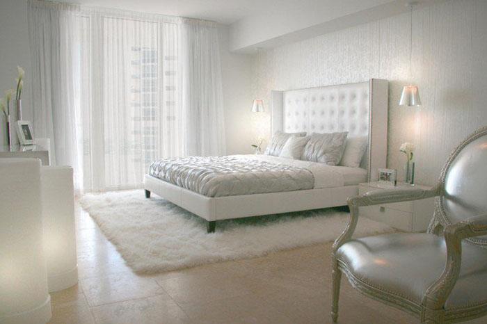 beyaz yatak odası halısı